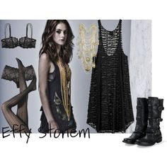 A fashion look from January 2009 featuring lacy dress, aristoc hosiery and genuine leather boots. Browse and shop related looks. Gothic Outfits, Grunge Outfits, Fashion Outfits, Diy Fashion, Aesthetic Fashion, Aesthetic Clothes, Effy Stonem Style, Mode Grunge, Future Clothes