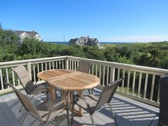 54-D - The back deck overlooks a former cranberry bog and Cape Cod Bay