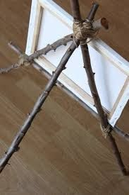 Image result for how to make an easel out of sticks