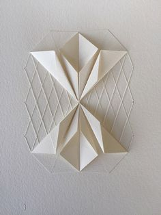 origami design Delicate Stitched Origami Patterns by Liz Sofield Origami Ball, Diy Origami, Origami Paper Folding, Origami Butterfly, Useful Origami, Origami Flowers, Origami Tutorial, Origami Hearts, Origami Boxes
