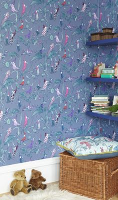 Zagazoo Wallpapers From Osborne and Little by Quentin Blake. How perfect would that be for a child's room?