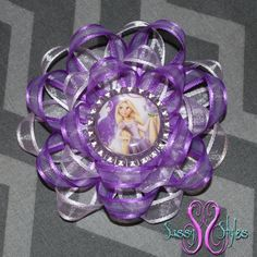 Sassy Sunflower Rapunzel Tangled Hair Bow by SassyStylesbySS
