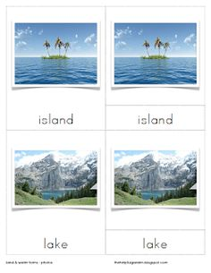 I have noticed that it is also hard to find a good set of photos for the Land and Water Forms as a free download This set includes isla...