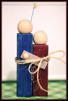 Simple Wooden Block Nativity