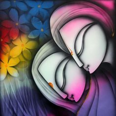 Buy Love artwork number a famous painting by an Indian Artist K Prakash Raman. Indian Art Ideas offer contemporary and modern art at reasonable price. Modern Indian Art, Indian Folk Art, Indian Artist, Indian Art Paintings, Buy Paintings, Modern Art Paintings, Design Poster, Art Design, Interior Design