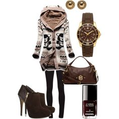 Brown winter outfit