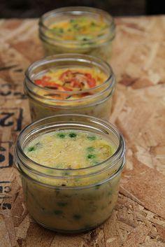 three crustless quiches in a jar by misterkrista, via Flickr