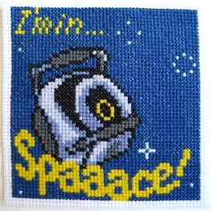 "Portal cross stitch ""I'm in Space!"""