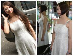 Long Hair Cuts, Long Hair Styles, Bob, White Dress, Wedding Dresses, Lady, Fashion, Bride Dresses, Moda