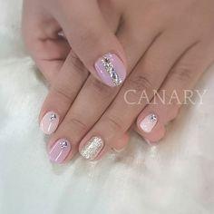 #strawberrypink #milky #rhinestones #canarycentral #canarynail #gelmanicure #gelnails #naildesign #nailsalonhongkong #beautyhongkong #香港ネイルサロン #中環美甲 #中環gel甲 #中環植眼睫毛