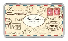 Amazon.com: Cavallini Rubber Stamps Par Avion, Assorted with Ink Pad
