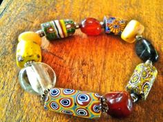 Trade #beads collected in #Ghana, stones and silver at Ezile bay #Akwidaa