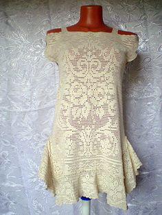 """Купить платье"""" Очарование лета"""" - авторское платье, Филейное кружево, вязаный сарафан, летний сарафан"""