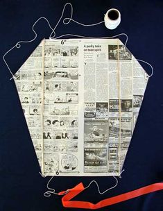 Newspaper Kite Craft, a free Mother Goose Craft for Little Kids - mothergoose.com