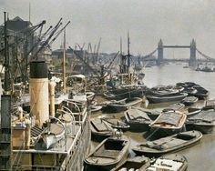 autochrome of London from the Albert Kahn Archive... taken in 1924
