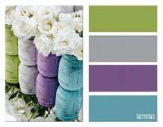 Ideas Bath Room Themes Purple Color Pallets For 2019 Purple Nursery Themes, Bedroom Colors Purple, Bedroom Green, Purple Teal, Green And Purple, Purple Green Bedrooms, Purple Office, Bedroom Turquoise, Purple Themes