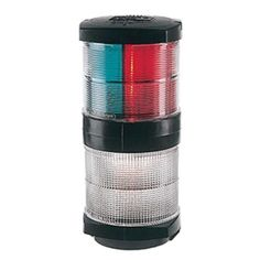 Hella Marine Tri-Color Navigation Light/Anchor Navigation Lamp- Incandescent - 2nm - Black Housing - 12V