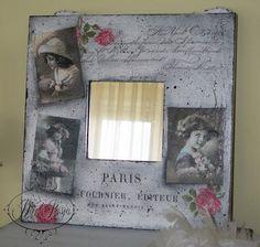 espejos decorados marcos decorados marcos vintage cuadros vintage servilletas almohadas ejercicios bricolaje actividades
