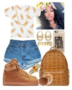 """Chilling "" by flawlessgirlty on Polyvore featuring Jordache, NIKE, Casetify, MCM, MICHAEL Michael Kors, Gogo Philip and Rolex"