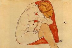 Egon Schiele, Seated Woman, 1913