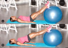 Exercise Ball Glute Exercises : Extreme Fitness by Life Plus Fitness