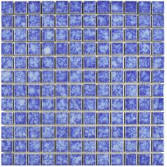 "Found it at Wayfair - Pool 1"" x 1"" Porcelain Mosaic Tile in Aral"