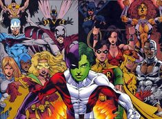 The Teen Titans West and The New Teen Titans!
