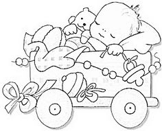 Antique drawing of sleeping baby - great to trace & add to a scrapbook page. - Antique drawing of sleeping baby – great to trace & add to a scrapbook page. Let the ideas flow a - Baby Embroidery, Hand Embroidery Patterns, Cross Stitch Embroidery, Quilt Patterns, Ribbon Embroidery, Machine Embroidery, Embroidery Designs, Baby Coloring Pages, Coloring Books
