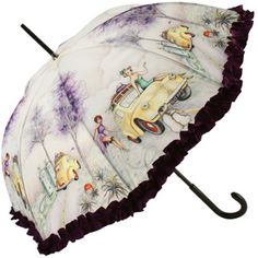 French Pin-up girl umbrella with ruffles..