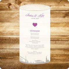 Tischkarte maritim Hamburg Hochzeit individuell designed by Die