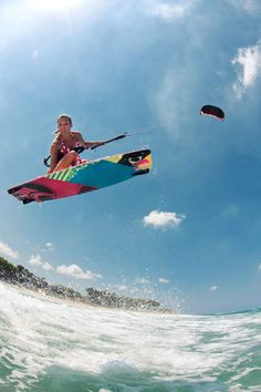 I just found out that kite boarding is a thing and I want to learn how to do it so badly!