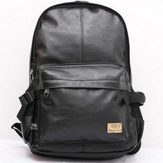 Wanderlust Premium Black Leather Streetwear Backpack