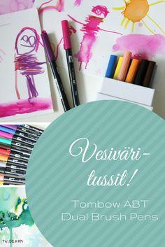 Tombow ABT Dual Brush -kynät ovat ideaalit tekstaamiseen ja piirtämiseen - ja toimivat lisäksi kuin vesivärit!, TAIDEKOTI