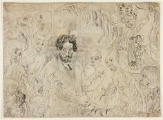 James Ensor , Demons Tormenting Me, 1888. Black chalk with black Conté crayon on wove paper