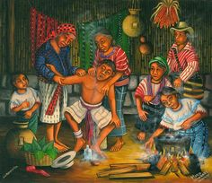 Mario Gonzalez Chavajay Mayan primitive artist Guatemala