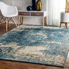 nuLOOM Traditional Vintage Fancy Blue and Grey Rug (7'10 x 11'2) | Overstock.com Shopping - The Best Deals on 7x9 - 10x14 Rugs
