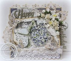 Jenine's Card Ideas: Old letter hydrangea