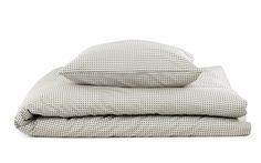 Plus Bed linen in grey | Minimalistic designer bed linen in modern print