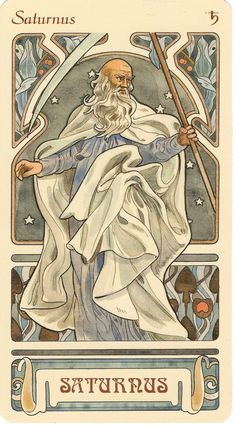 Saturn, ruling planet of Capricorn (and Aquarius in classical astrology) sternzeichen verseau vierge zodiaque Zodiac Art, Zodiac Signs, Art Zodiaque, Capricorn Sign, Aquarius, Constellations, Alphonse Mucha Art, Jugendstil Design, Culture Art