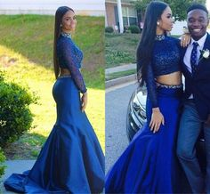 Mermaid Prom Gown,Taffeta Prom Dresses,Royal Blue Evening Gowns,Beaded Party Dresses,Mermaid Evening Gowns,Sexy Formal Dress For Teens