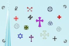 Ad: Cruxially by Proportional Lime on Religious symbols are endless much like that amazing variety of types of religion. This font contains nearly 500 glyphs. Many are crosses, Otf Font, Religious Symbols, Character Map, Creative Sketches, Creative Fonts, Paint Markers, Premium Fonts, Pencil Illustration, All Fonts