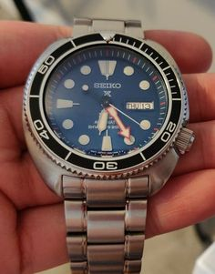 Seiko Prospex Padi Turtle Stainless Steel Automatic Watch W/ Rubber 0029665186171 for sale online Seiko Mod, Seiko Diver, Seiko Automatic, Watches For Men, Turtle, Jewels, Band, Spring, Clothing
