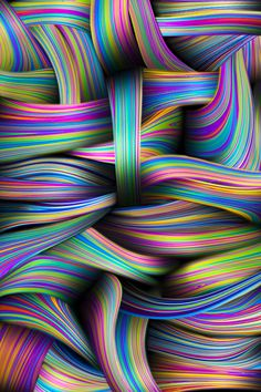 Toshi Mayumi Rainbow of Colors Fractal Design, Fractal Art, Art Mural, World Of Color, Psychedelic Art, Op Art, Optical Illusions, Rainbow Colors, Rainbow Laces