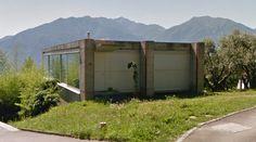 Casa Vacchini - House - 1991 by Livio Vacchini - #architecture #googlestreetview #googlemaps #googlestreet #switzerland #ticino #brutalism #modernism
