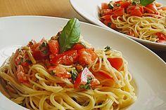 Spaghetti mit Cocktailtomaten (Rezept mit Bild) von juliaklara | Chefkoch.de