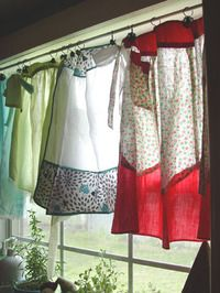 Apron curtains, have aprons hanging at my kitchen windows!! RANDI SUE your request is found just one of several