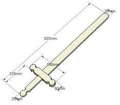 Jeux en bois : une épée de chevalier - Travail du bois