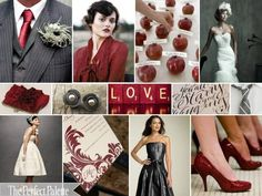 Burgundy, cream, and gray wedding! Ooh what a great alternative to the burgundy, black, and white!