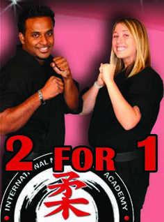 TWO TRAIN FOR THE PRICE OF ONE!TAKE ACTION NOW!!  Give the gift of a healthy lifestyle to a family memberor your best friend! Take advantage of this once ayear offer!! MARTIAL ARTS FOR A BETTER LIFE!  SPECAIL INCLUDES: • 1 DOJO ORIENTATION (VISIT OUT 4000SQ. F. LUXURY FACILITY) • 4 WEEKS TRAINING AT THE INTERNATIONAL MARTIAL ARTS ACADEMY FORT LAUDERDALE FOR ONE OR TWO PEOPLE • ONE KARATE UNIFORM OR BOXING GLOVES (UPON ENROLLMEN)   Web Specials are for first time buyers only and can not be…