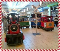 """All aboard the """"Hyundai Holiday Express"""" at #CambridgeCentre   This is another great example of a successful partnership with Cambridge Hyundai, who sponsored the holiday train by offering FREE rides to all Cambridge Centre shoppers."""